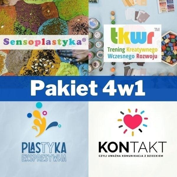 Pakiet kursów 4w1 (Sensoplastyka®, Trening Kreatywnego Wczesnego Rozwoju™, Plastyka Ekspresywna™ oraz szkolenie KONTAKT)