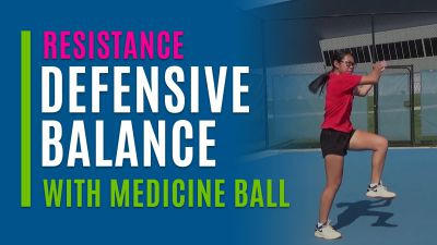 Defensive Balance (With Medicine Ball)