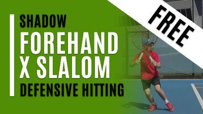 Forehand X Slalom (Shadow with Defensive Hitting)
