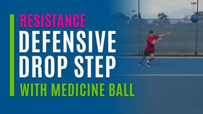 Defensive Drop Step (With Medicine Ball)