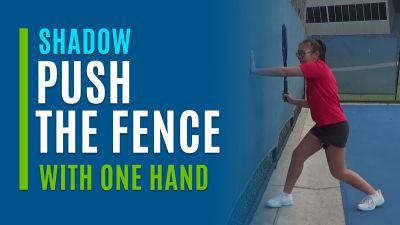 Push the Fence (With One Hand)