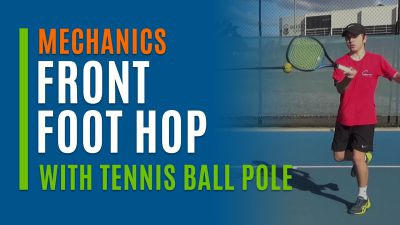 Front Foot Hop (With Tennis Ball Pole)