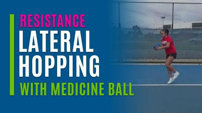 Lateral Hopping (With Medicine Ball)