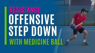 Offensive Step Down (With Medicine Ball)