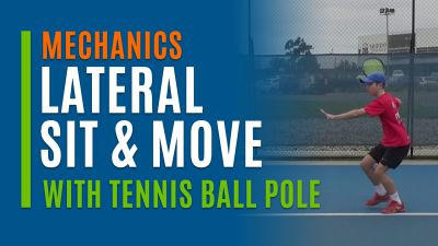 Lateral Sit & Move (With Tennis Ball Pole)