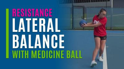 Lateral Balance (With Medicine Ball)