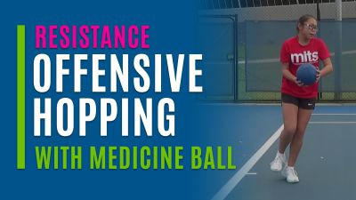 Offensive Hopping (With Medicine Ball)