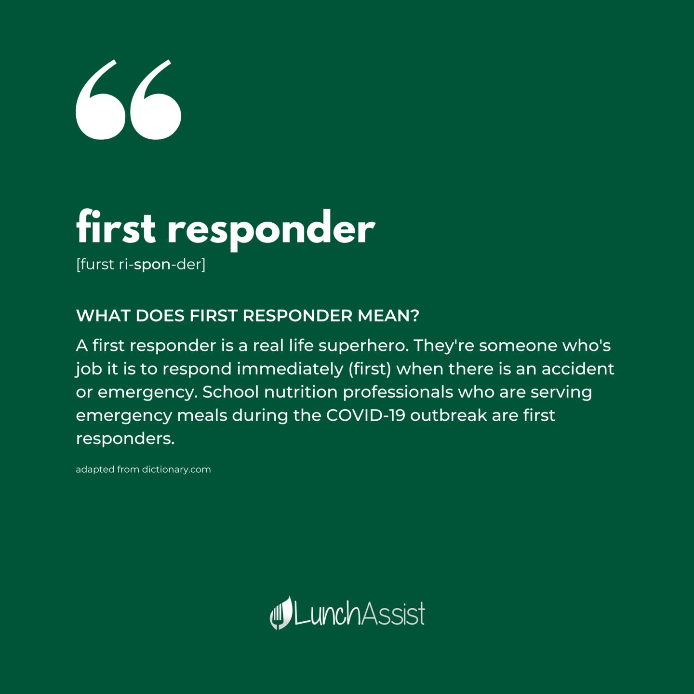 First Responder Instagram Post