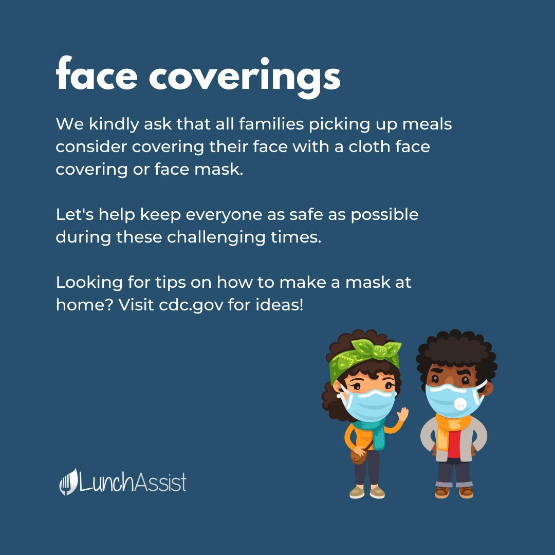 Face Covering Social Media Post