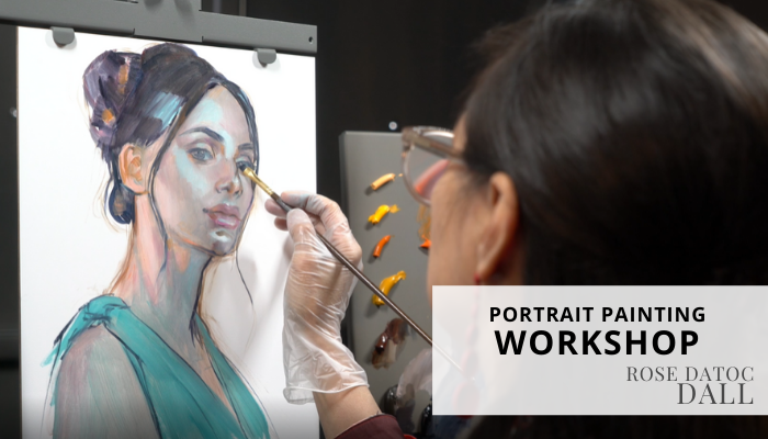 Contemporary portrait painting class