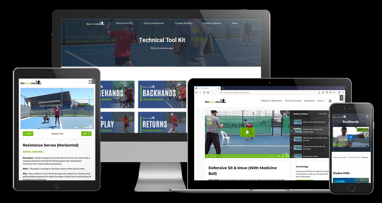 Take  Action - The Tennis Menu