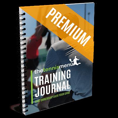 Training Journal - The Tennis Menu