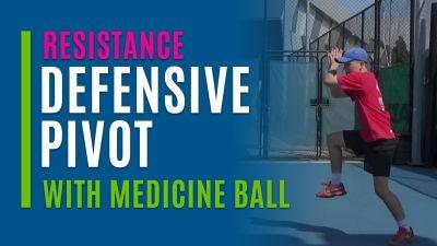 Defensive Pivot (With Medicine Ball)
