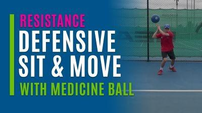 Defensive Sit & Move (With Medicine Ball)