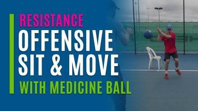 Offensive Sit & Move (With Medicine Ball)