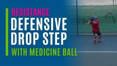 Defensive Drop Step (With Medicine Ball)