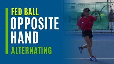 Opposite Hand Forehands (Alternating Single and Double)