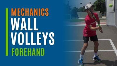Wall Volleys (Forehand)