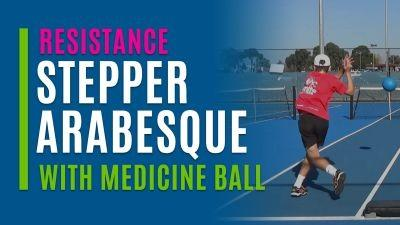 Stepper Arabesque (With Medicine Ball)