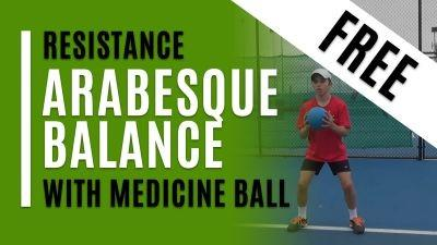 Arabesque Balance (With Medicine Ball)