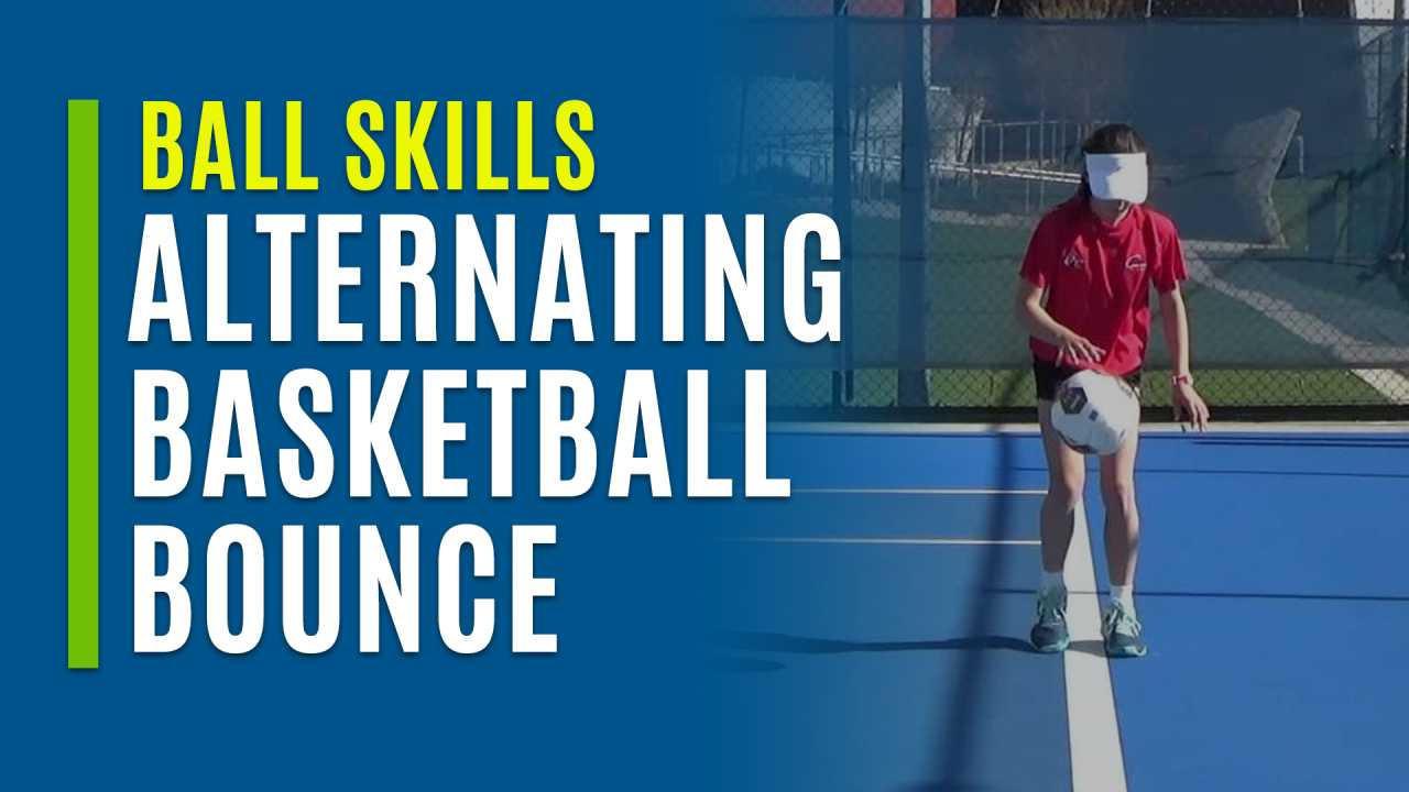 Alternating Basketball Bounce