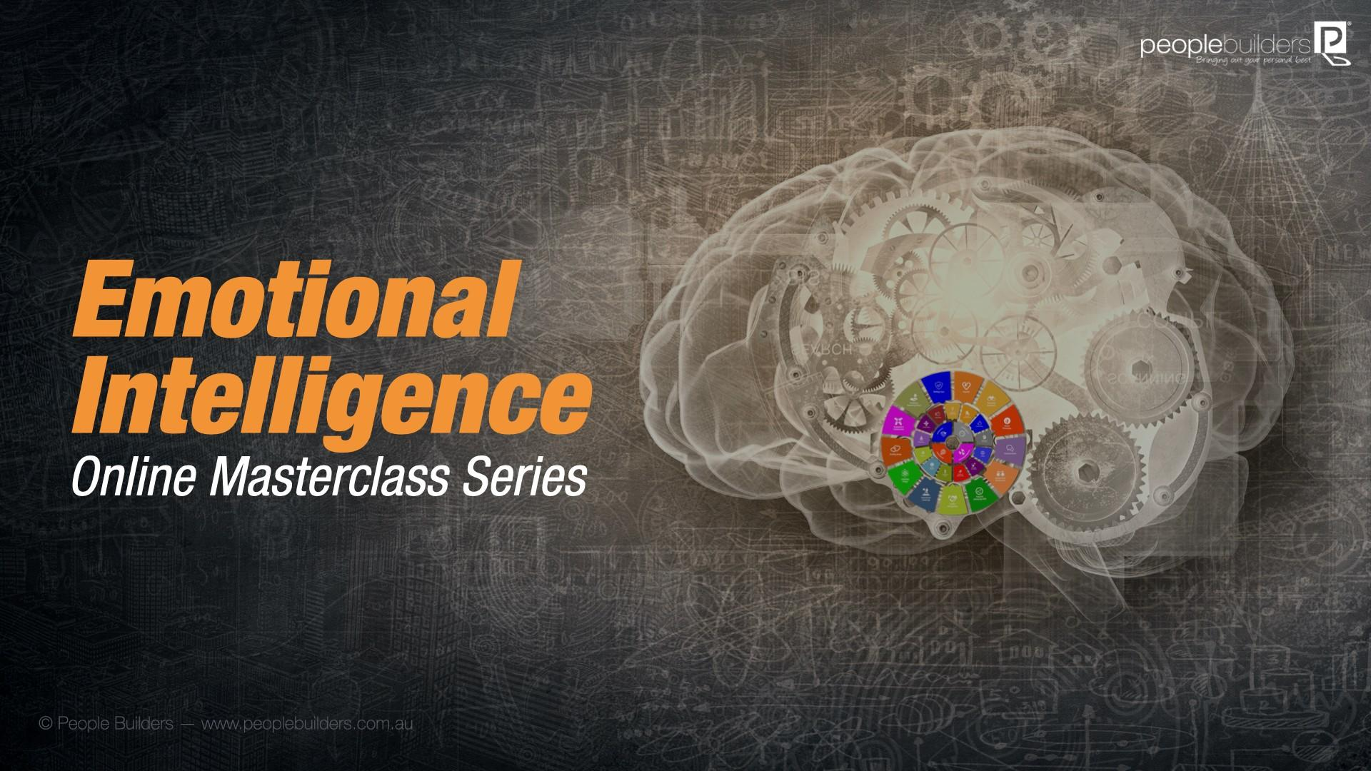 Brain with gears and emotional intelligence competencies vector.