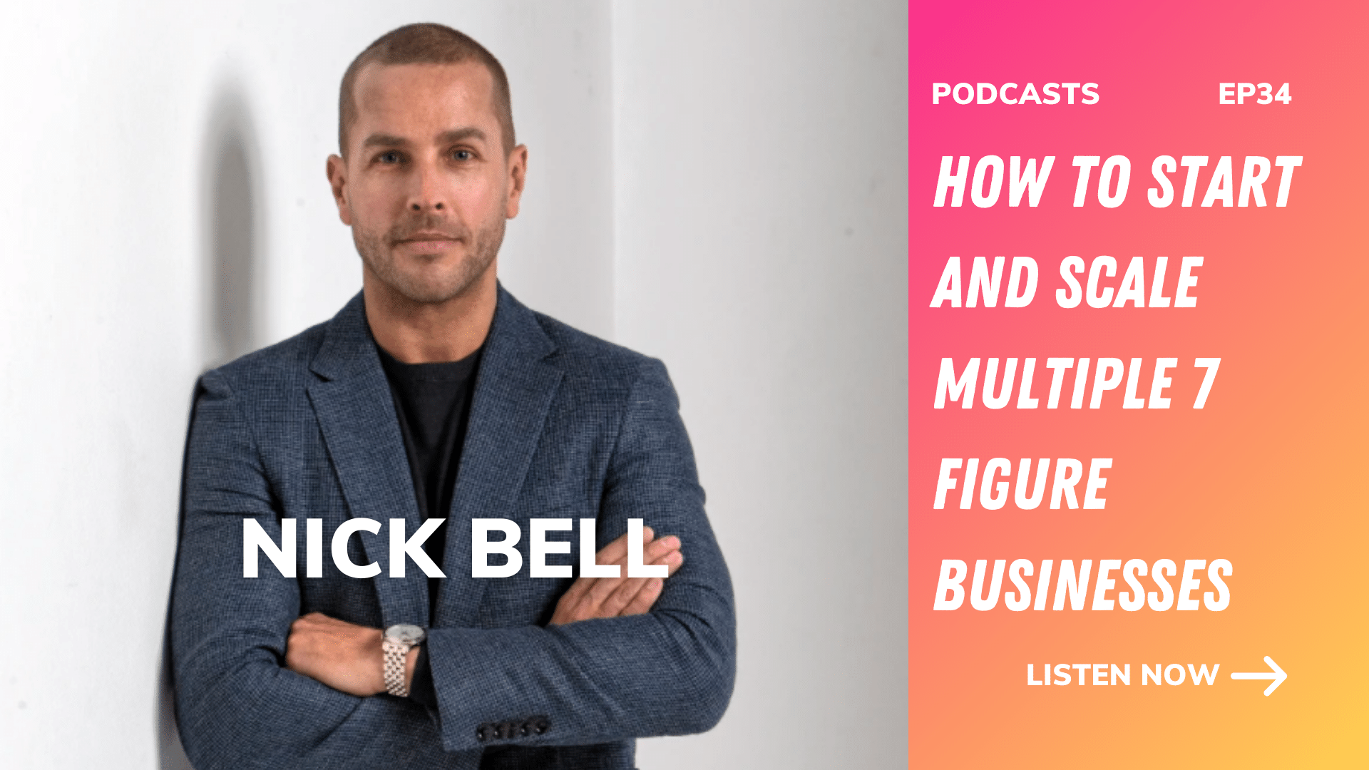 Nick Bell How to start and scale multiple 7 figure businesses