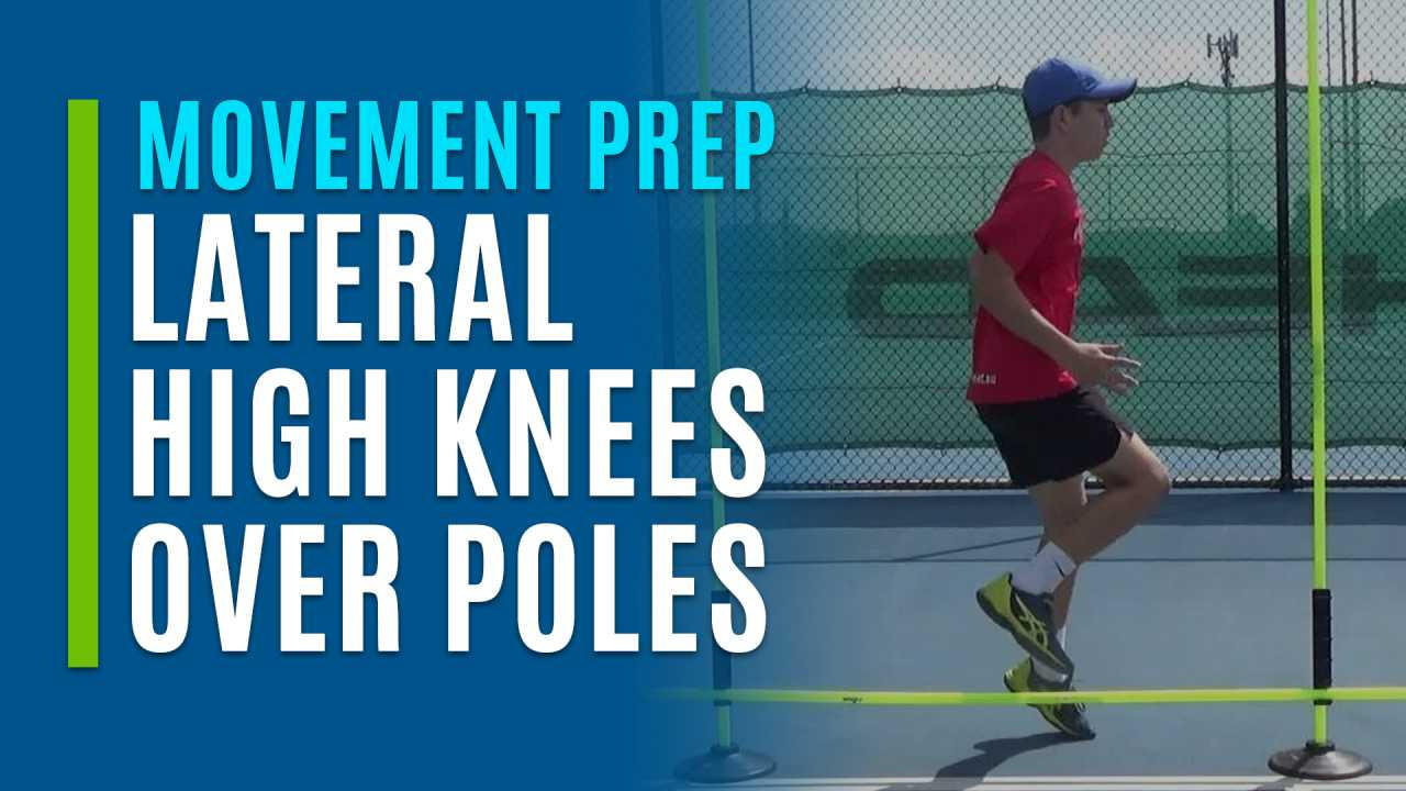 Lateral High Knees Over Poles