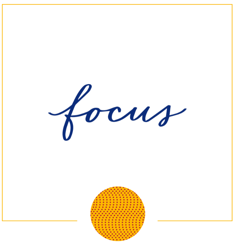 Focus Hand Lettered Word In Square