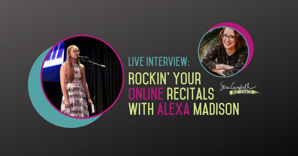 Online Recitals with Sara Campbell & Alexa Madison
