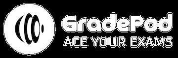 GradePod Logo White Transparent