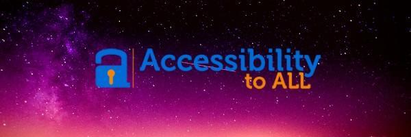Logo rappresentante un lucchetto arrotondato e aperto in segno di accessibilità, con a fianco il naming Accessibilitytoall