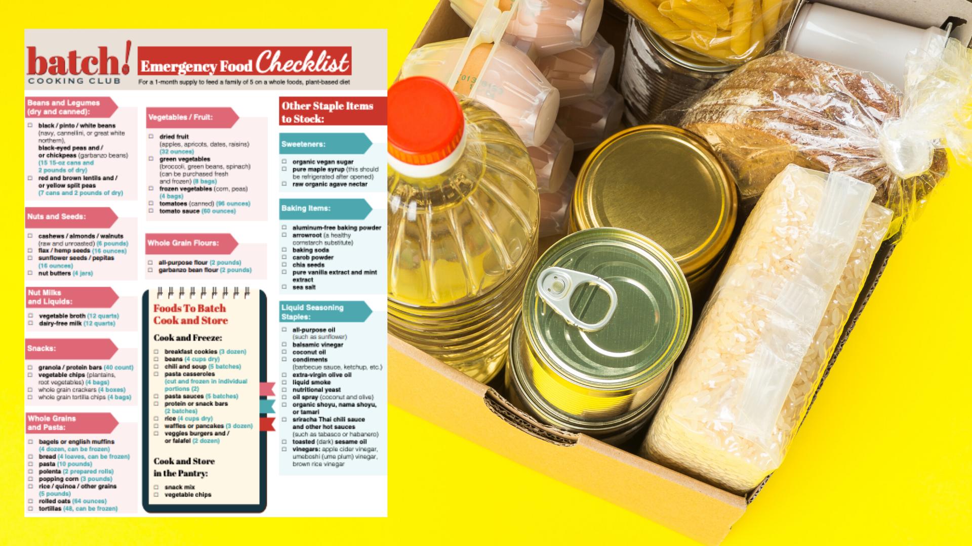 Emergency Food Checklist