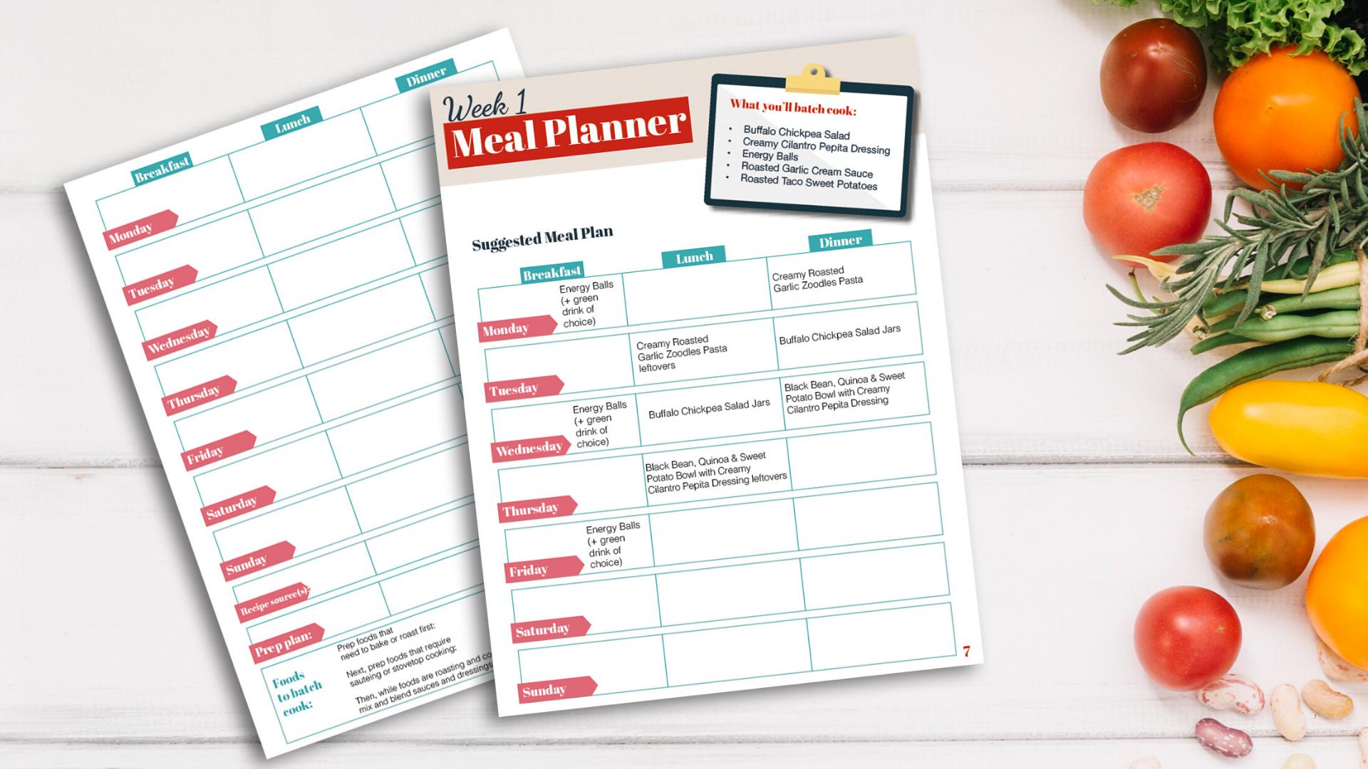 Blank Meal Planner