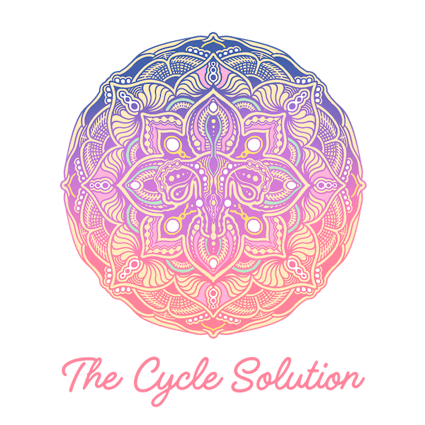 The Cycle Solution Logo in pink and navy and yellow