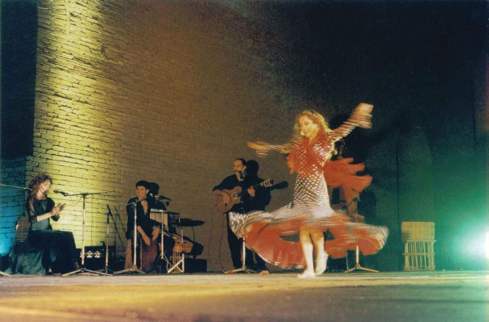 Performing Barefoot Flamenco and Bellydance Fusion