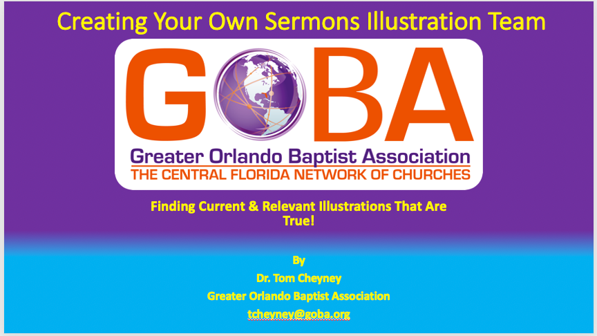 Creating Your Own Sermons Illustration Team PowerPoint