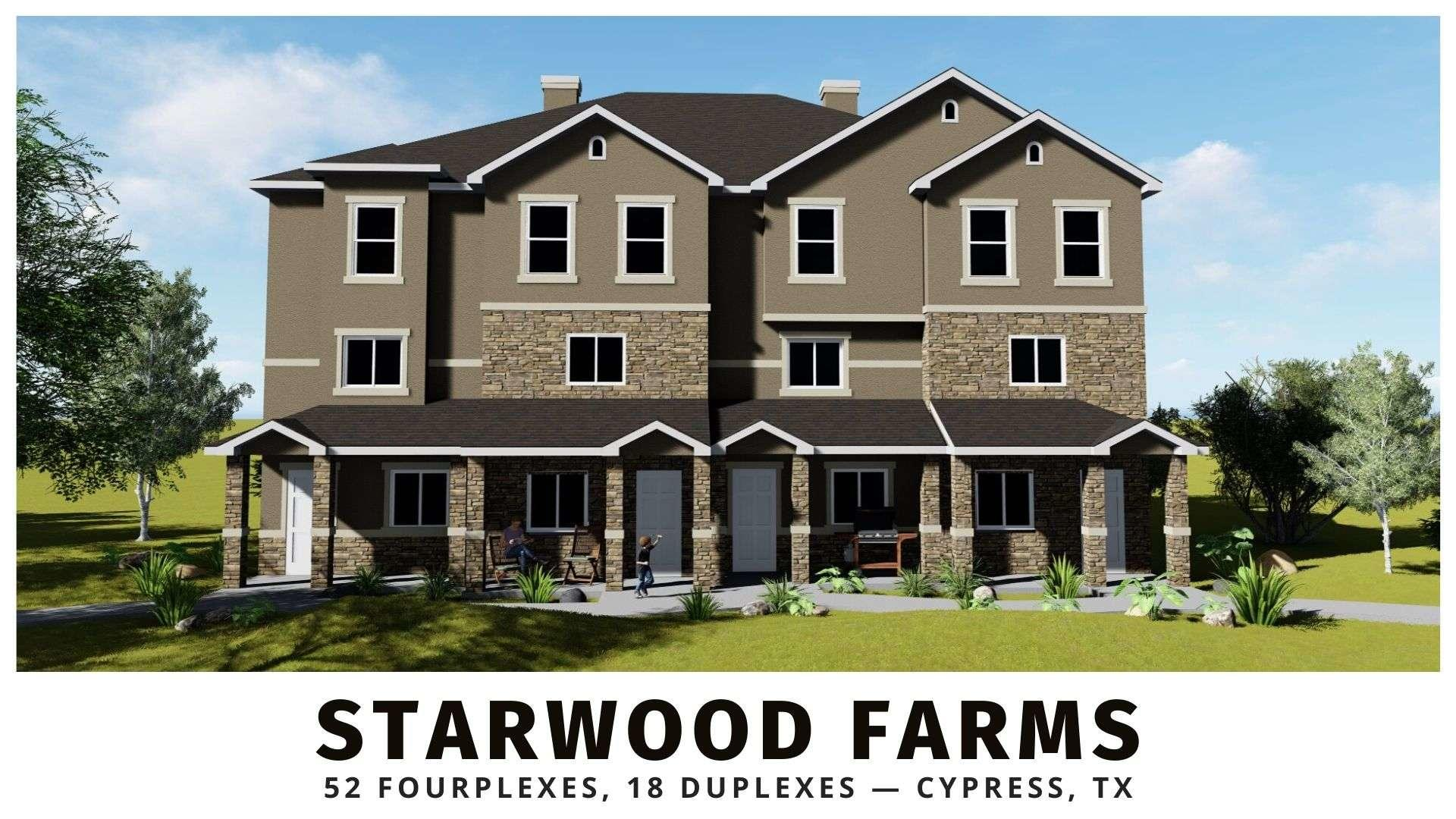 Starwood Farms multifamily investments in Houston Texas