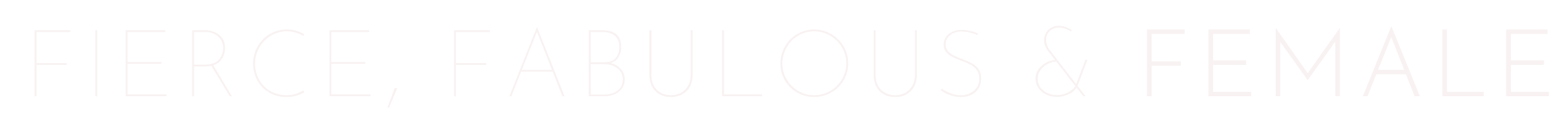 Fierce, fabulous and female logo