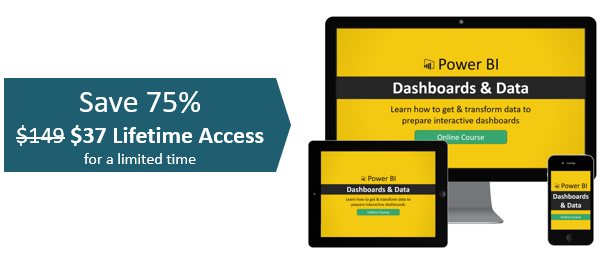 Power BI Dashboards & Data Online Course Black Friday Offer