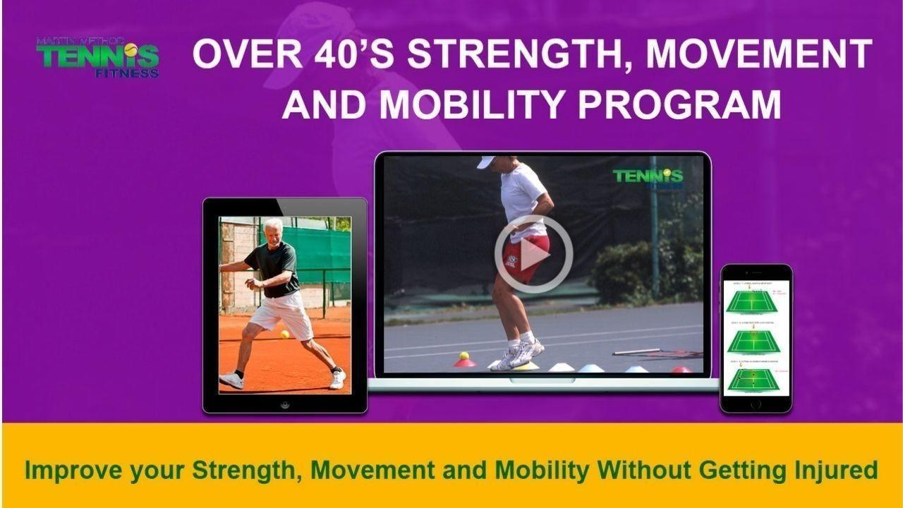 Over 40's Tennis training  program