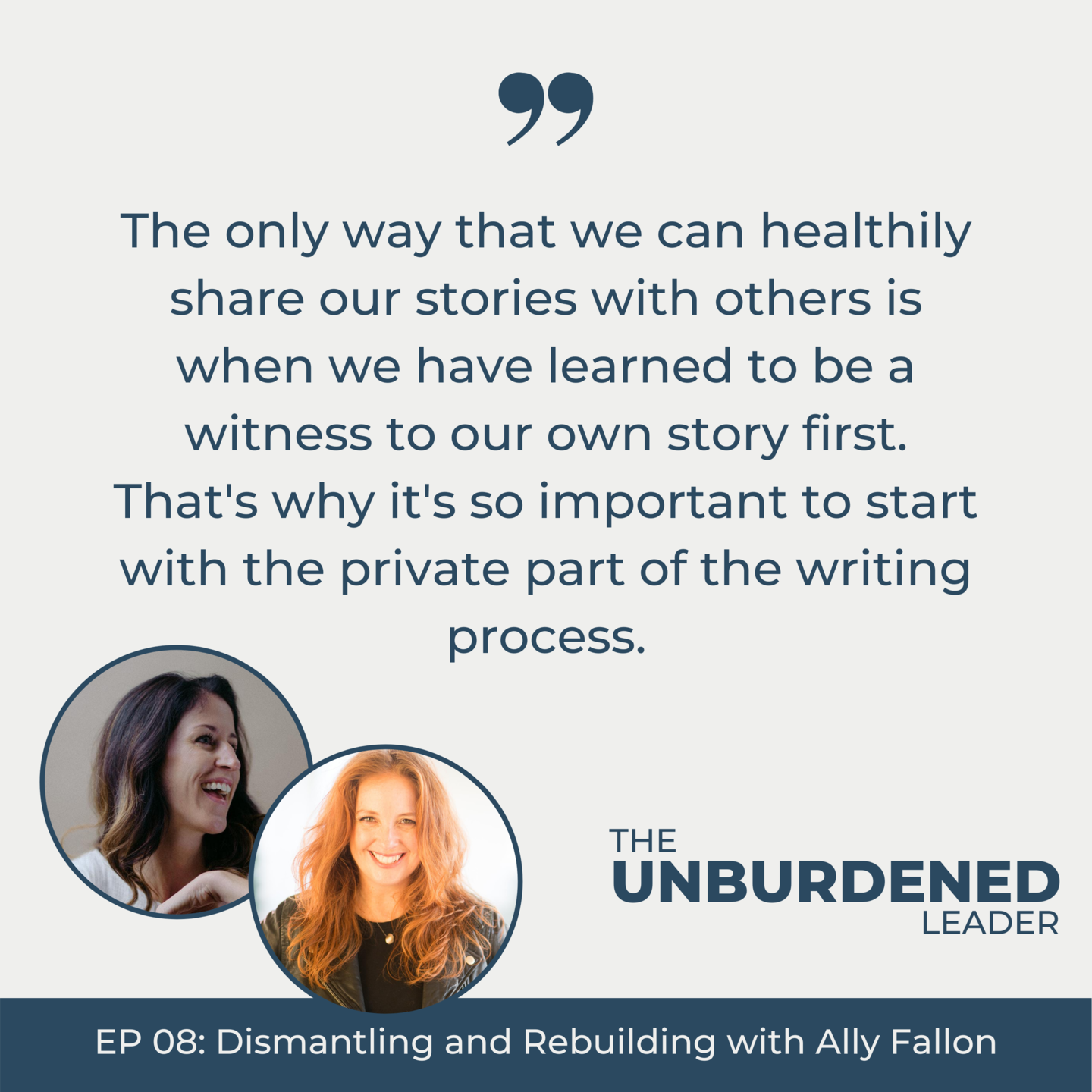 Ally Fallon | Unburdened Leader Podcast