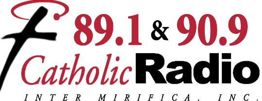 Catholic radio logo, resilience during COVID-19