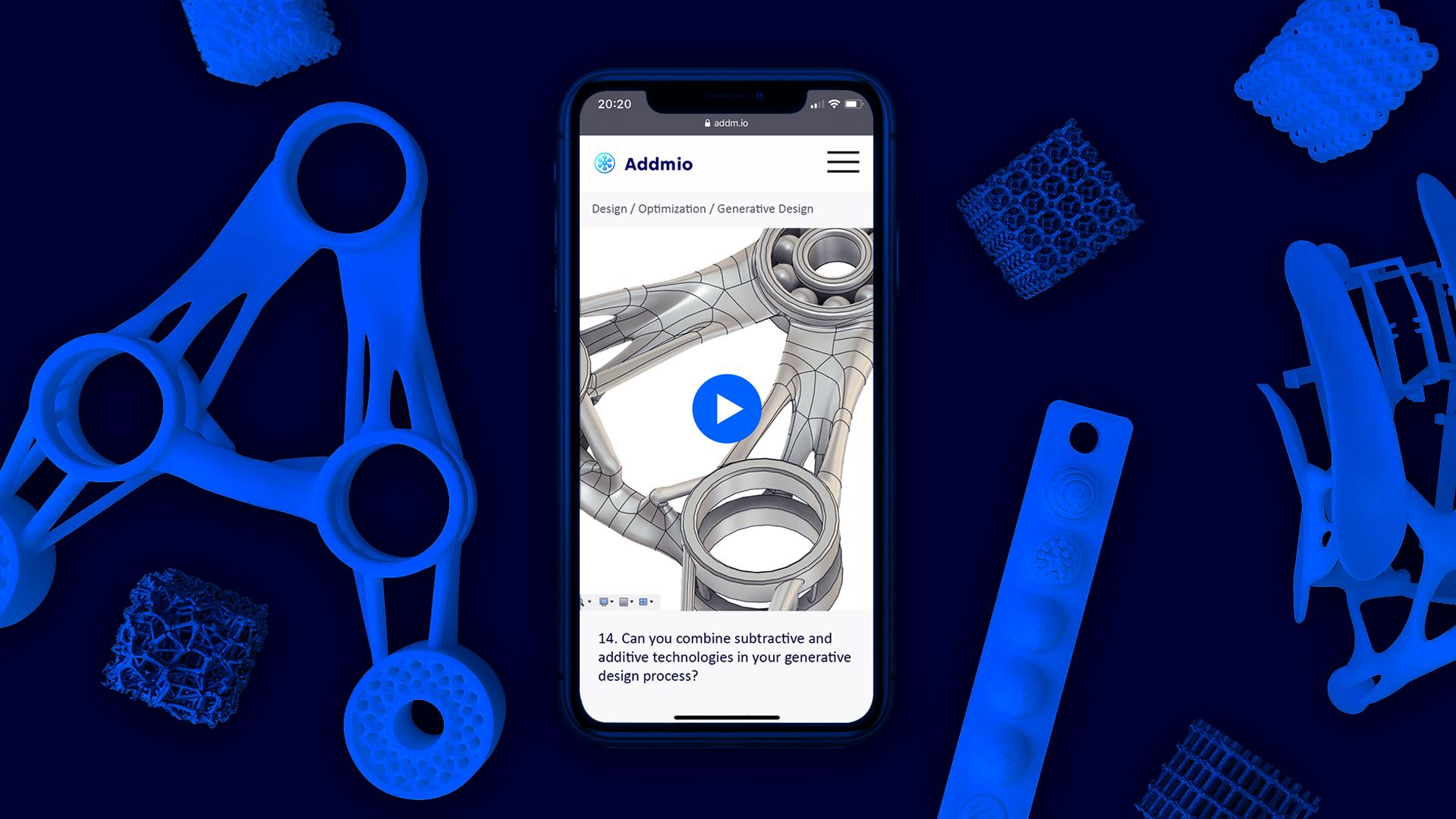 Addmio 3D Printing for Entrepreneurs Kickstarter banner