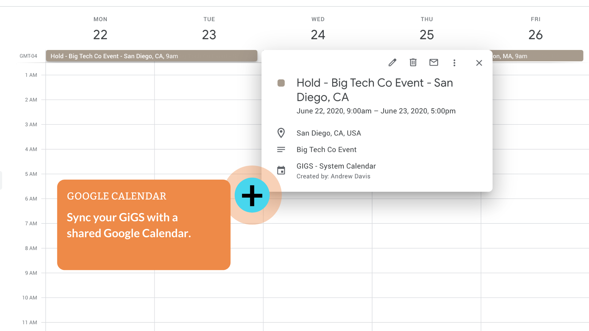 Sync all your GiGS with a shared Google Calendar