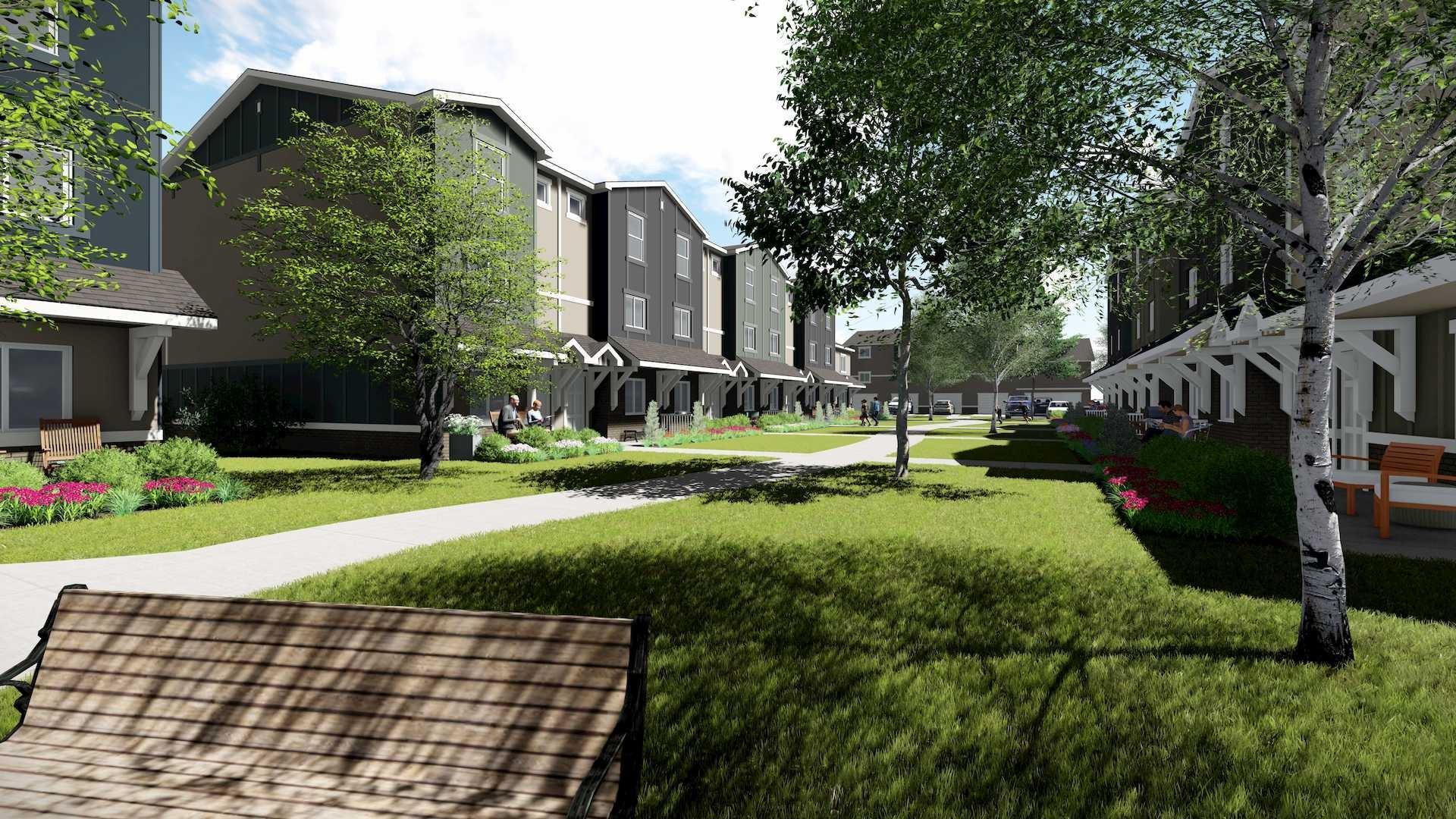 Village at Brickyard, fourplex development in Boise Valley