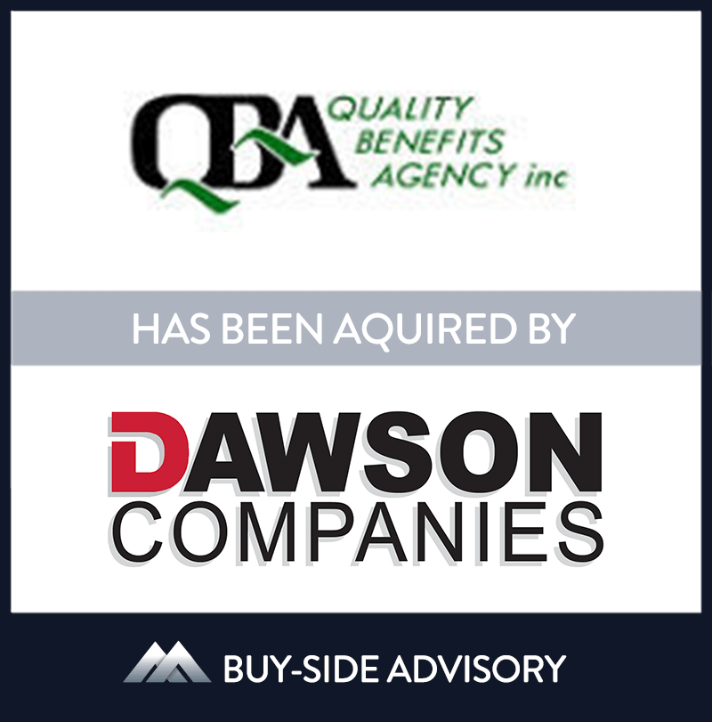 Dawson Companies, one of the largest independent insurance brokers in Ohio, acquired Quality Benefits Agency, Inc. (QBA). QBA, based in Cleveland, strengthens the benefits division at Dawson as they look to take their full service agency to the next level. MidCap served as advisor to Dawson Companies. | Quality Benefits Agency Inc, Dawson Companies, 1 Dec 2009, Ohio, Insurance & Financial Services