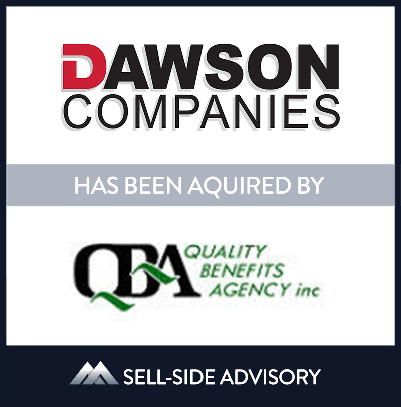 Dawson Companies, one of the largest insurance brokers in Ohio, acquired Quality Benefits Agency, Inc. (QBA).  QBA, based in Cleveland, strengthens the benefits division at Dawson, one of the Company's fastest growing divisions.  MidCap served as advisor to Dawson in the transaction. | Dawson Companies, Quality Benefits Agency, 1 Dec 2011, Ohio, Insurance & Financial Services