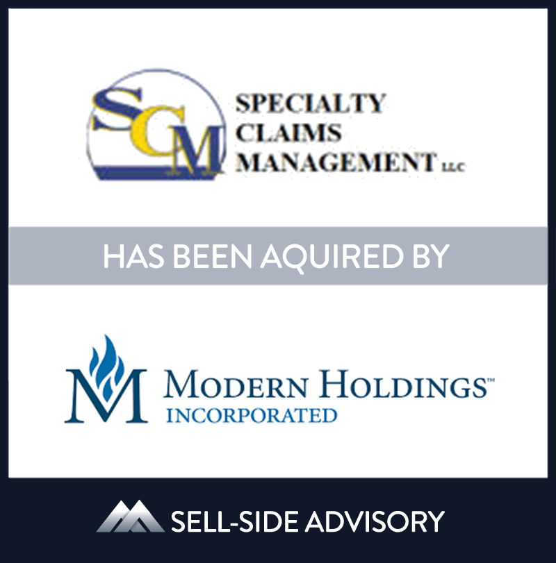 Modern Holdings, Inc. a diversified holding company, acquired a majority stake in Specialty Claims Management (SCM), a third party administrator. Based in Secaucus, NJ SCM  is a leading national provider of risk and claims management services for insurers, reinsurers and self-insureds in the property and casualty sector. MidCap served as advisor to SCM. | Specialty Claims Management, Modern Holdings Inc, 19 Jul 2010, New Jersey, Insurance & Financial Services