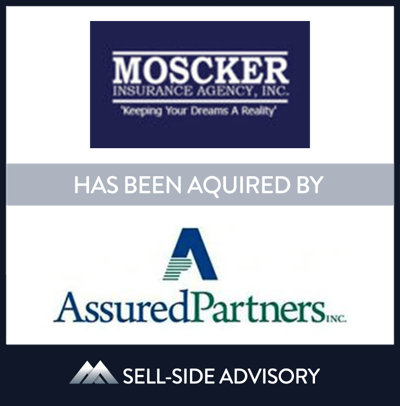 AssuredPartners of New Jersey, a subsidiary of AssuredPartners, Inc. acquired Moscker Insurance Agency, Inc. (Moscker), an independent agency based in Severna Park, MD and founded in 1992. Moscker is a full service agency specializing in coverage for individuals, businesses, and life and health insurance products. MidCap served as advisor to Moscker.| Moscker Insurance, AssuredPartners, 23 Sep 2015, Maryland Insurance & Financial Services